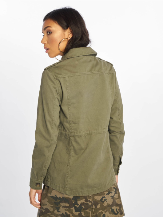 New Look Transitional Jackets 4 Pocket Utility Shacket khaki