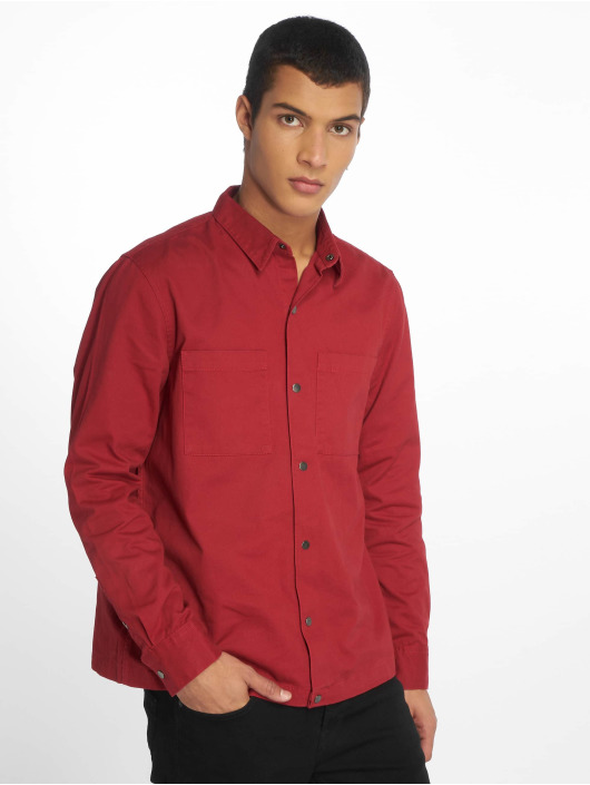 New Look Transitional Jackets Snap Through Shacket red