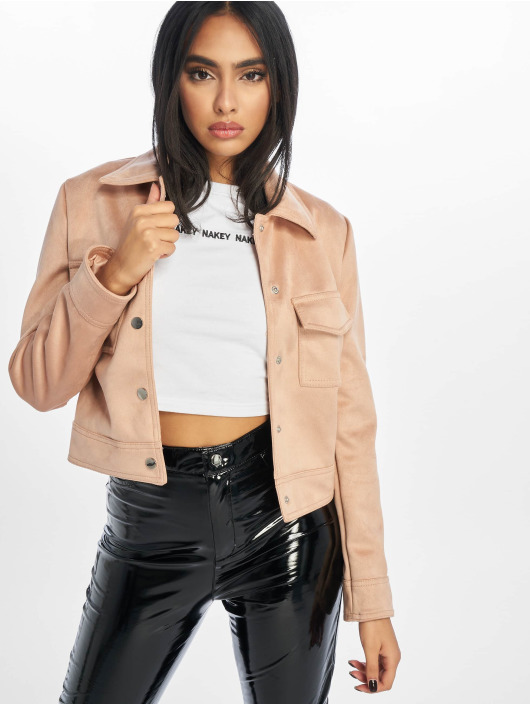 New Look Transitional Jackets Esme Suedette Utility rosa