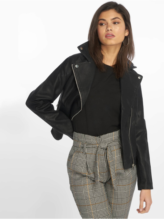 New Look Transitional Jackets Pu Biker svart