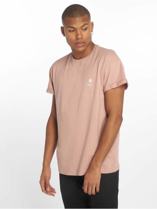 New Look Tričká Solid Rose Emboidered ružová