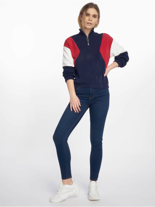New Look trui Half Zip CLBK Polar Fleece blauw