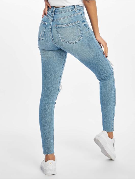 New Look Tynne bukser Mid Rip Disco Charlotte blå