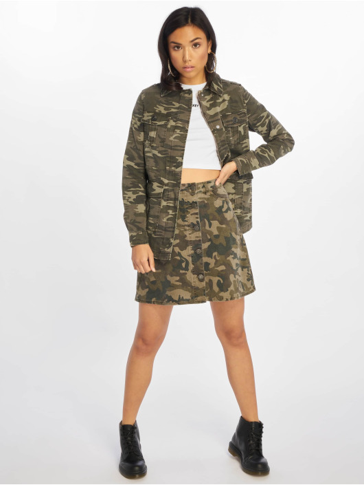 New Look Übergangsjacke Camo 4 Pocket Utility Shacket grün