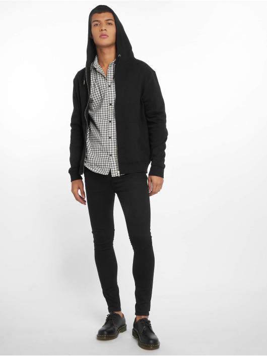 New Look Zip Hoodie Core Zip Thru czarny