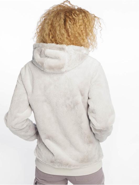 New Look Zip Hoodie T Faux Fur grey