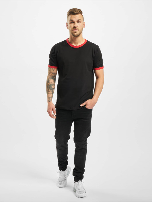 New York Style T-shirt Contrast nero