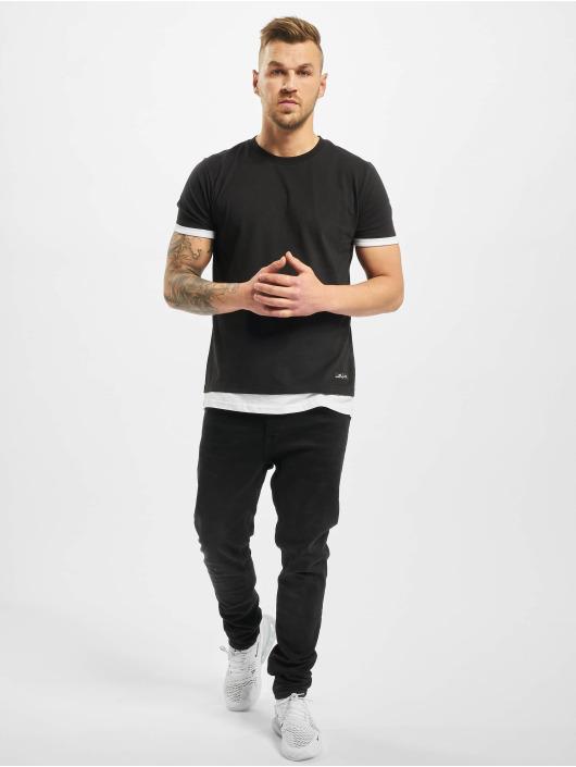 New York Style t-shirt Layers zwart