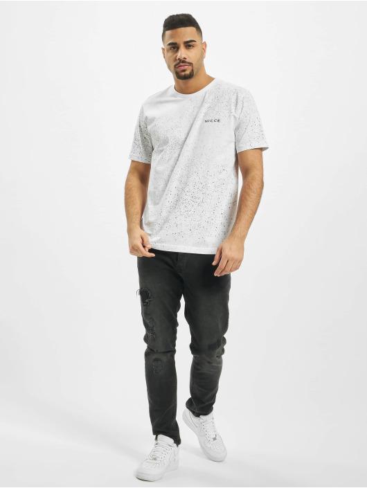 Nicce T-Shirt Splatter weiß