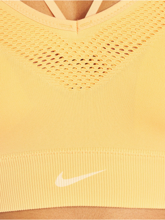 Nike Športová podprsenka Seamless oranžová