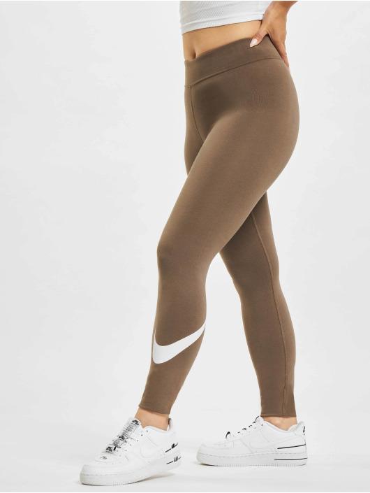 Nike Леггинсы Swoosh коричневый