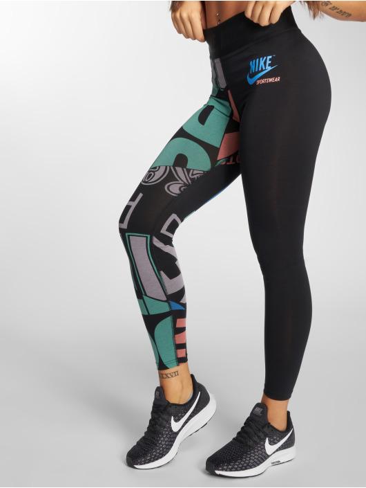 Nike Леггинсы AOP черный