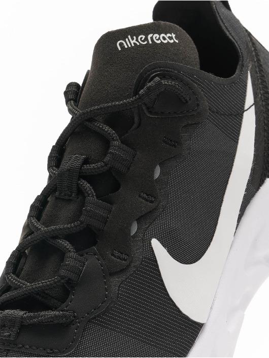 Nike Сникеры React Element 55 черный