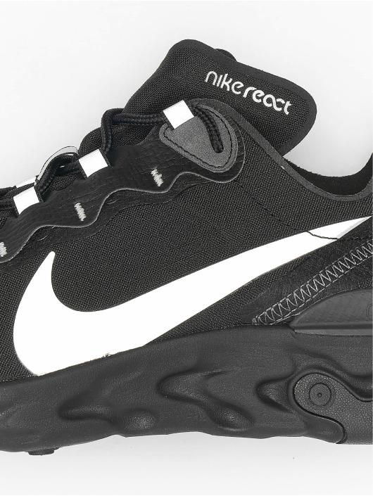 Nike Сникеры React Element 55 SE черный