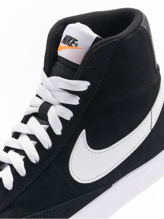 Nike Сникеры Blazer Mid '77 Suede (GS) черный