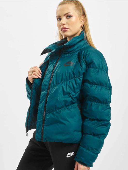 Nike Стеганая куртка Synthetic Fill бирюзовый