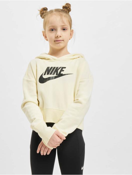 Nike Толстовка Crop бежевый