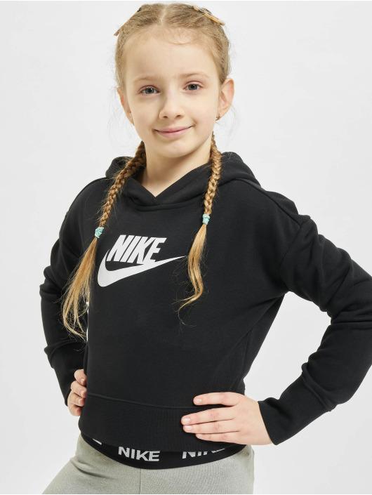 Nike Толстовка Crop черный