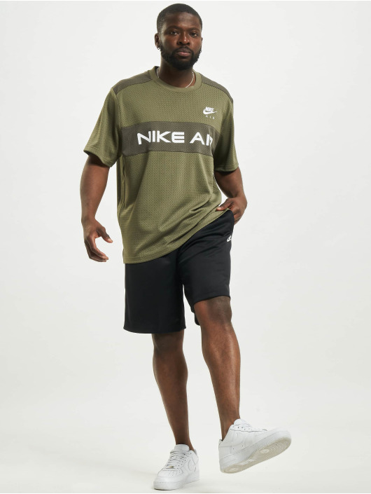 Nike Топ Mesh оливковый