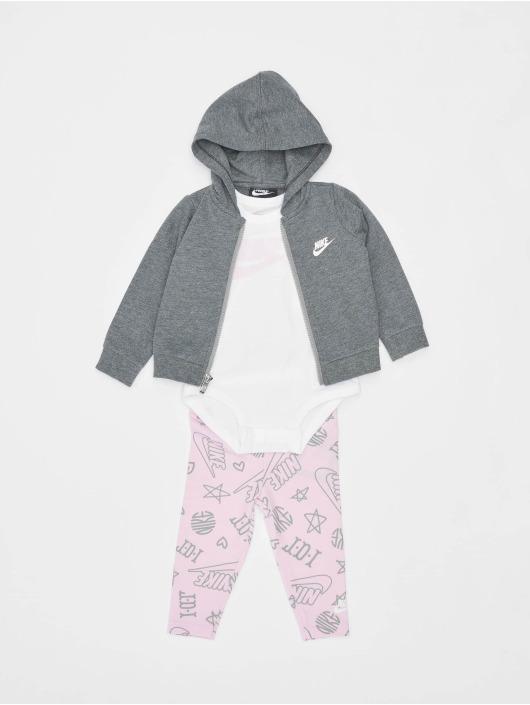 Nike Anzug 3PC Bodysuit Pant rosa