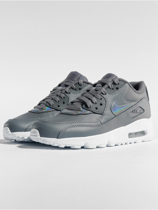 low priced 865f6 be93e ... Nike Baskets Air Max 90 Leather (GS) gris ...