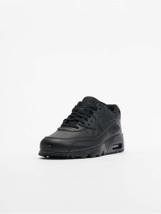 Nike Baskets Air Max 90 Leather (GS) noir