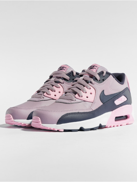 ... Nike Baskets Air Max 90 Leather (GS) rose ...