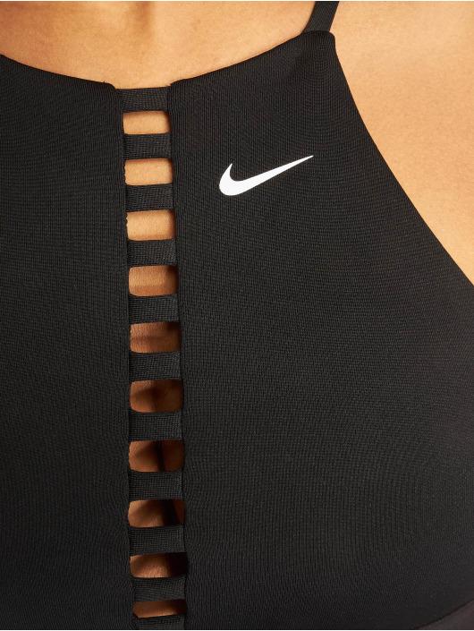 Nike Biustonosz sportowy Indy Lattice czarny