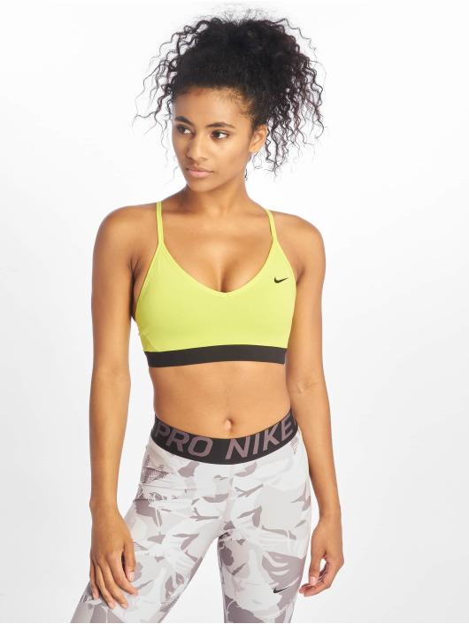 Nike Biustonosz sportowy Indy zielony