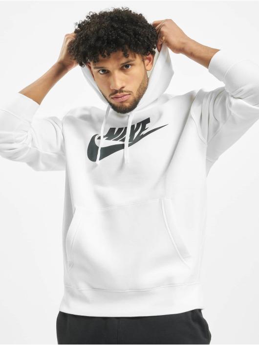 Nike Bluzy z kapturem Club bialy