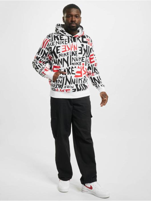 Nike Bluzy z kapturem Club BB bialy
