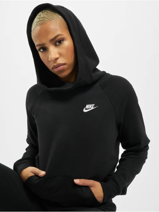Nike Bluzy z kapturem Essential PO Flecce czarny