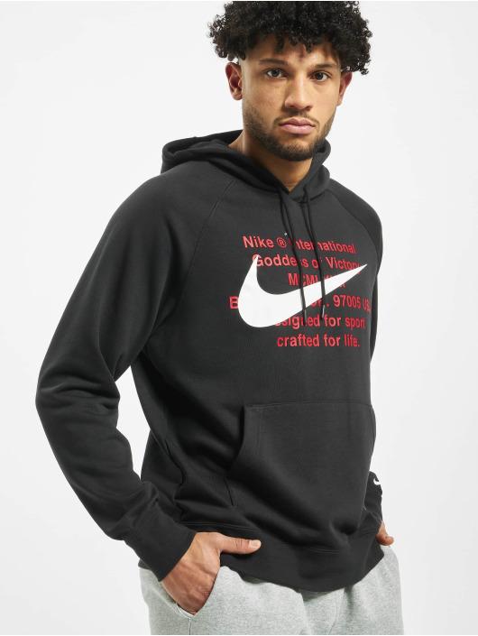 Nike Bluzy z kapturem Swoosh czarny