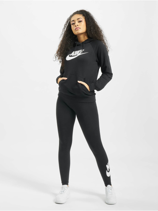 Nike Bluzy z kapturem Essential HBR czarny