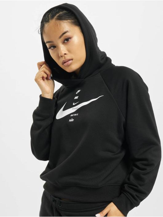 Nike Bluzy z kapturem Swoosh Fleece czarny