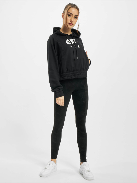 Nike Bluzy z kapturem Air Fleece czarny