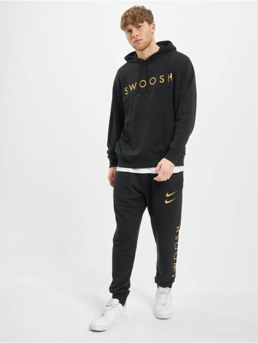 Nike Bluzy z kapturem Nsw Swoosh czarny