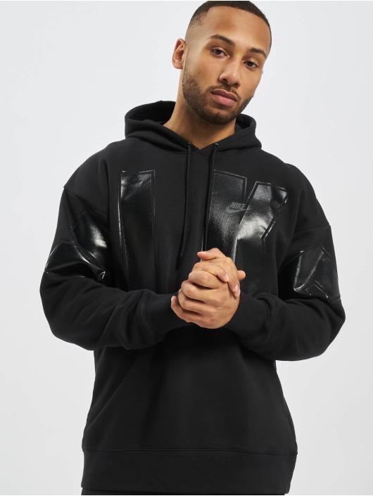 Nike Bluzy z kapturem SC Fleece czarny