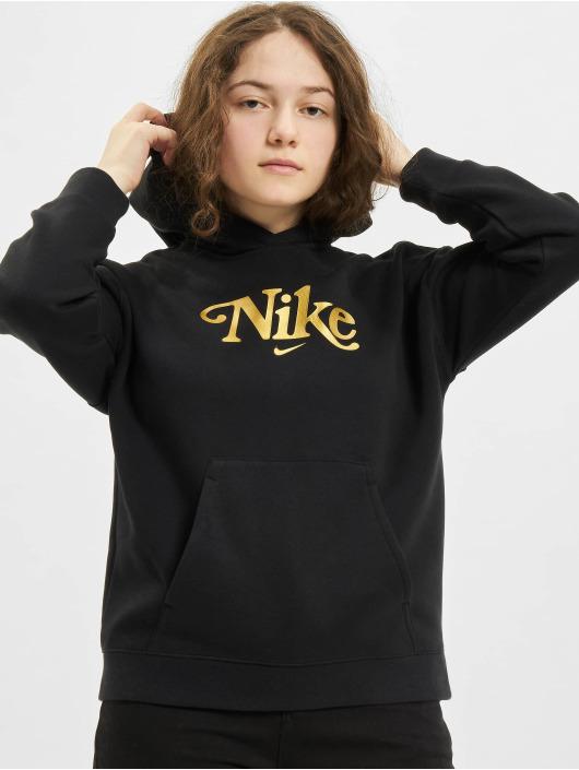Nike Bluzy z kapturem Club Energy czarny