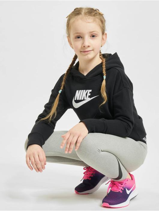Nike Bluzy z kapturem Crop czarny