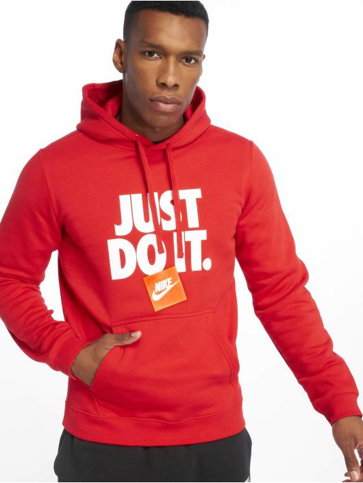 Nike Bluzy z kapturem DI PO Fleece czerwony