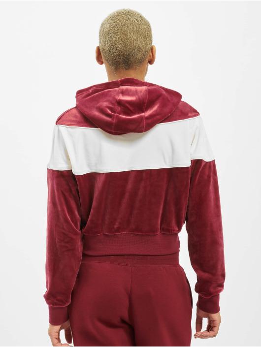 Nike Bluzy z kapturem Heritage czerwony