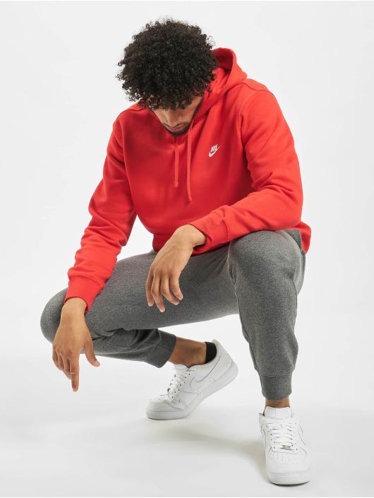 Nike Bluzy z kapturem Club czerwony