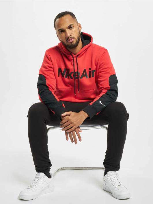 Nike Bluzy z kapturem Air Fleece czerwony