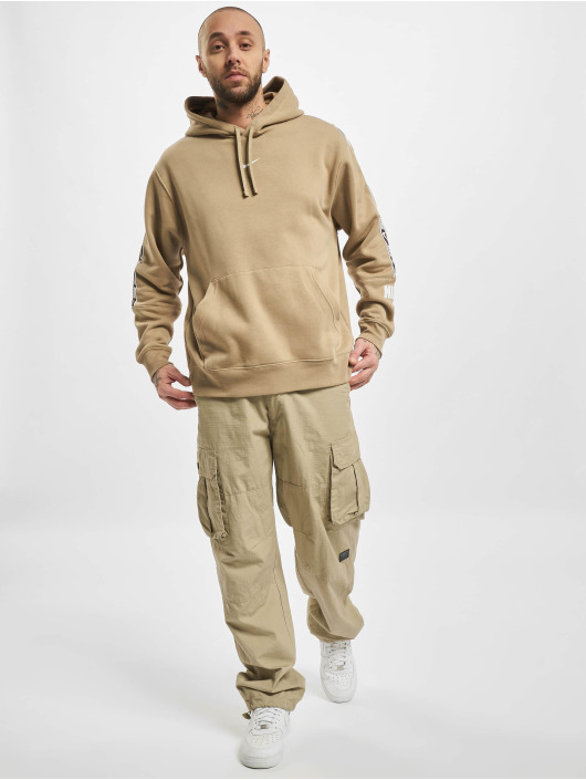 Nike Bluzy z kapturem M Nsw Repeat Flc Po Bb khaki