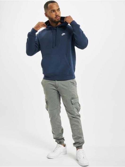 Nike Bluzy z kapturem Club PO BB niebieski