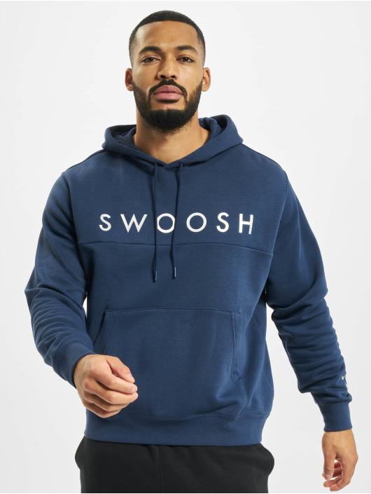 Nike Bluzy z kapturem Swoosh niebieski