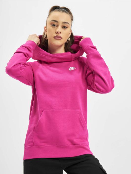 Nike Bluzy z kapturem W Nsw Essntl Flc Fnl pink