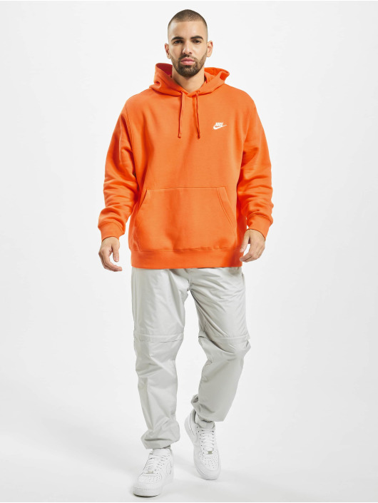 Nike Bluzy z kapturem Club pomaranczowy