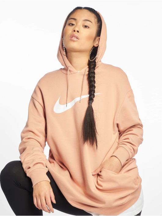 Nike Bluzy z kapturem Swoosh OS FT rózowy